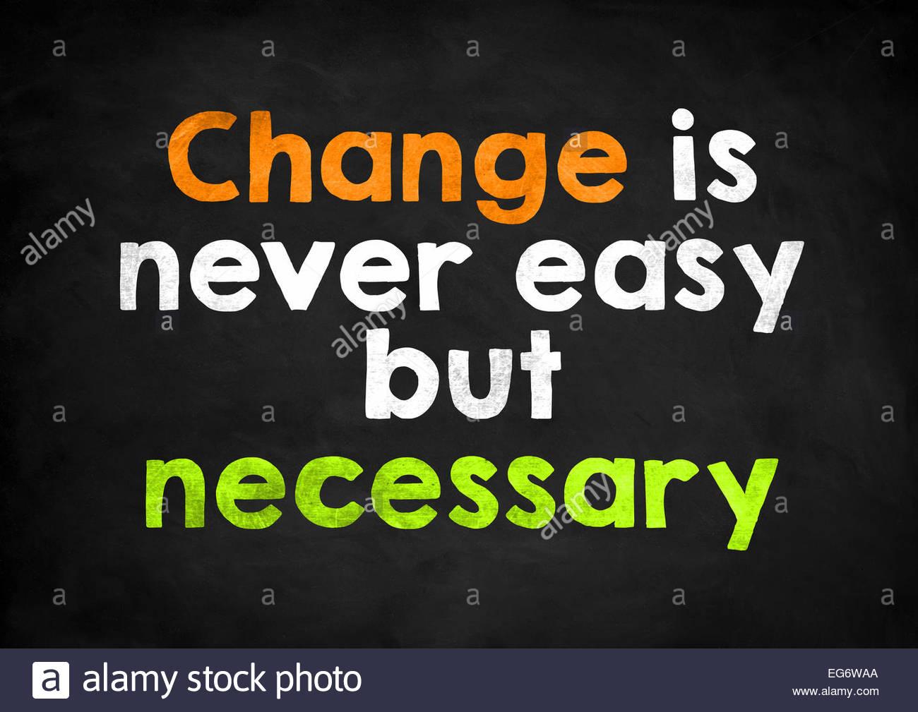 Veränderung ist nie einfach, aber notwendig Stockbild