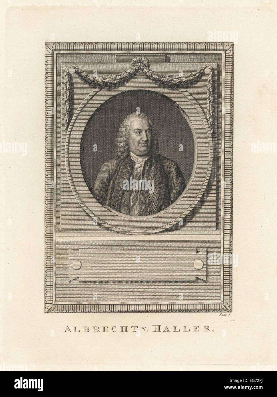 Albrecht von Haller, Schweizer Anatom, Physiologe, Naturforscher und Dichter. Stockbild