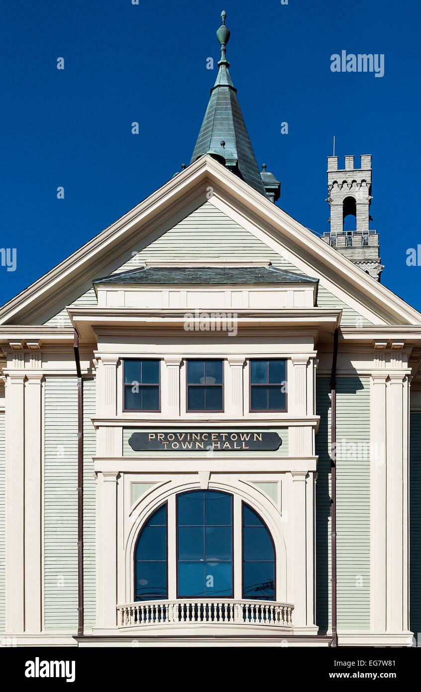 Fassade des Rathauses, Provincetown, Cape Cod, Massachusetts, USA ...