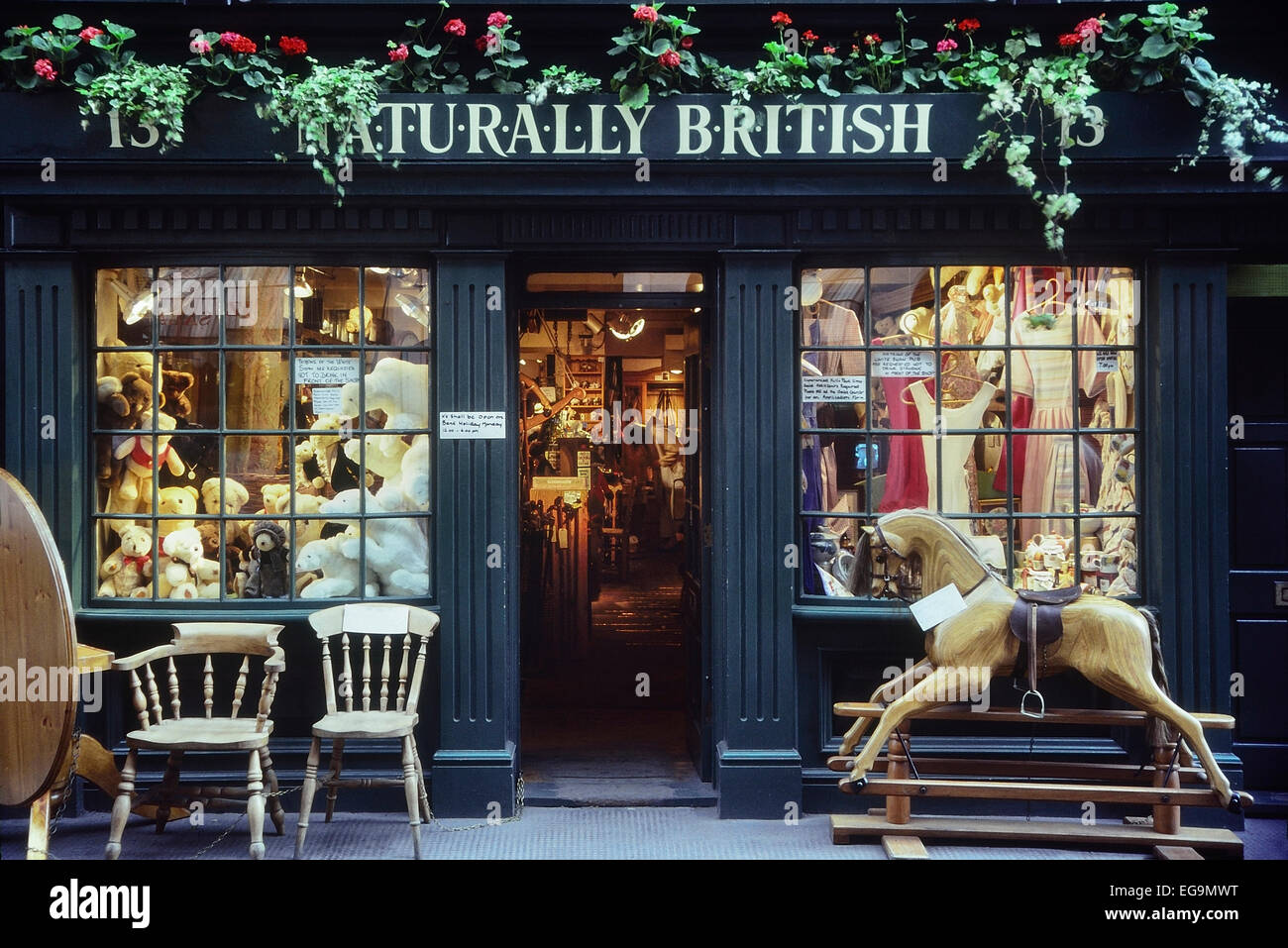 Natürlich British Shop Fassade. London. UK Stockbild