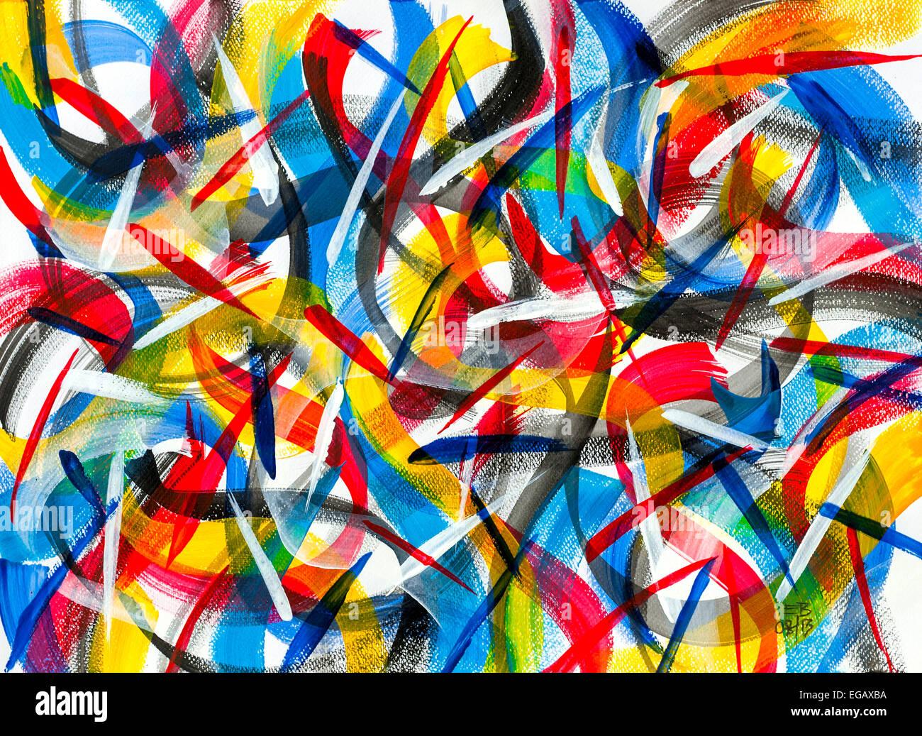 Acrylmalerei acrylic painting Abstrakt 10 / 14 | video ...