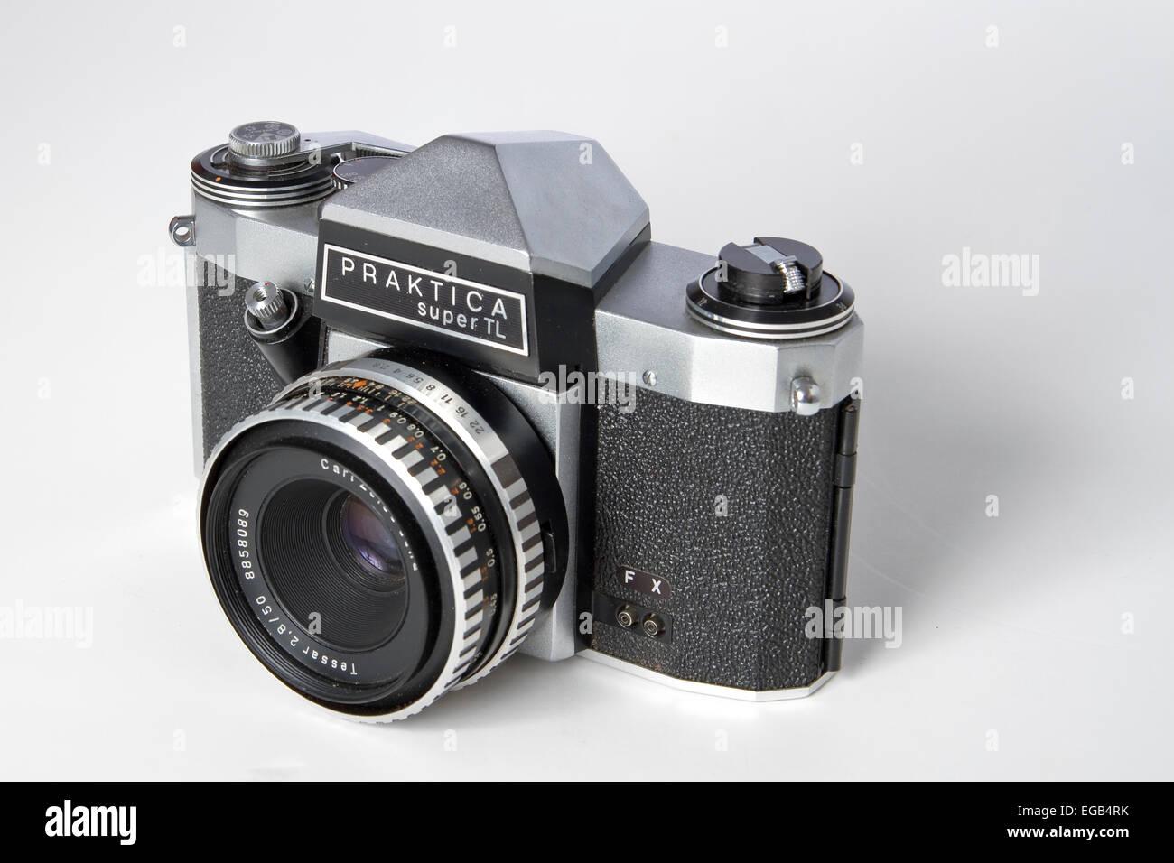 Praktica super tl 35mm slr kamera vintage kamera stockfoto bild