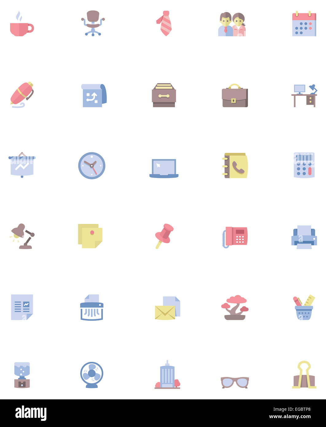 Vektor Buro Icon Set Stockfoto Bild 78936880 Alamy