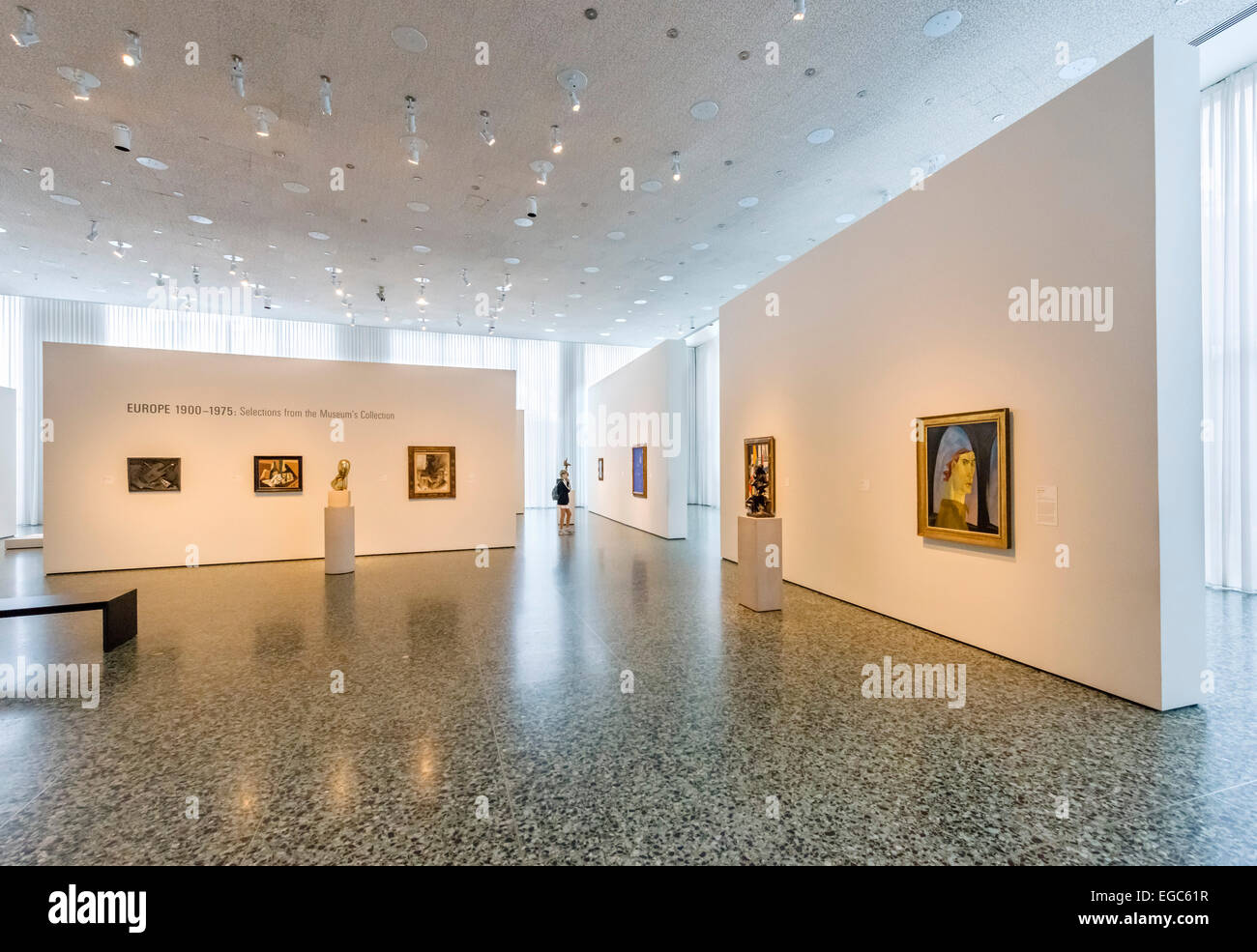 Gebäudeinnere Caroline Wiess Law an Museum der Künste, Houston, Texas, USA Stockbild