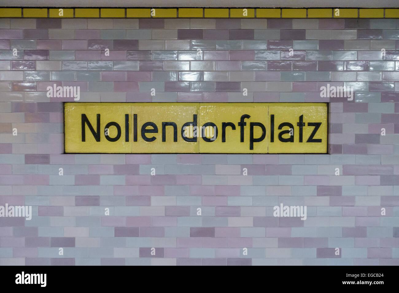 nollendorfplatz u bahn schild in berlin deutschland stockfoto bild 78948076 alamy. Black Bedroom Furniture Sets. Home Design Ideas