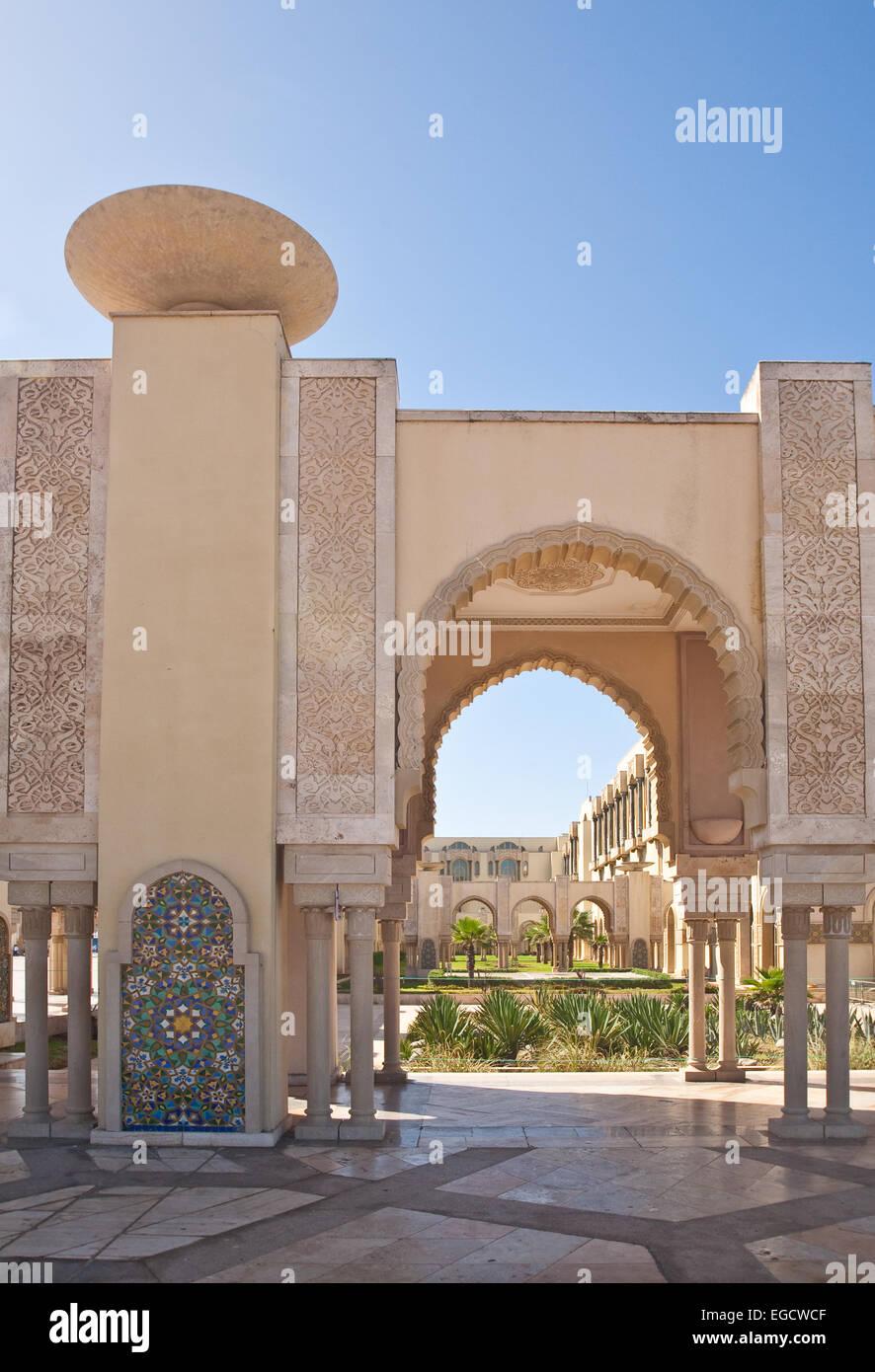 Blick auf die Moschee Hassan II in Casablanca, Marokko Stockfoto
