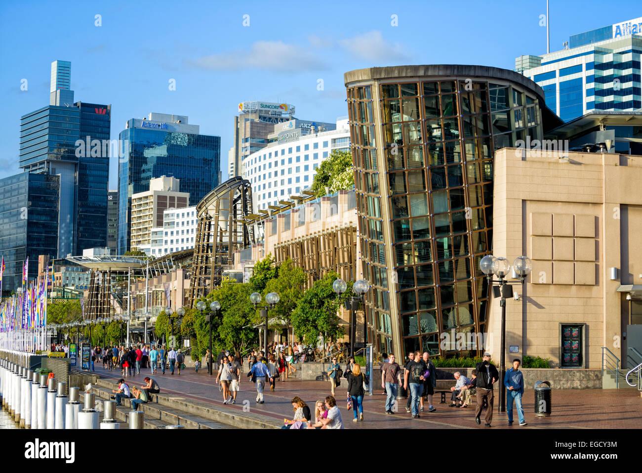 Darling Harbour (Hafen), Sydney, eine sehr beliebte Touristenattraktion; [Tourismus; Ziel; Australien; Australien; Stockbild
