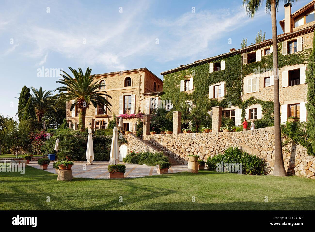 Außenaufnahme des Hotel La Residencia in Deia, Mallorca, Spanien Stockbild
