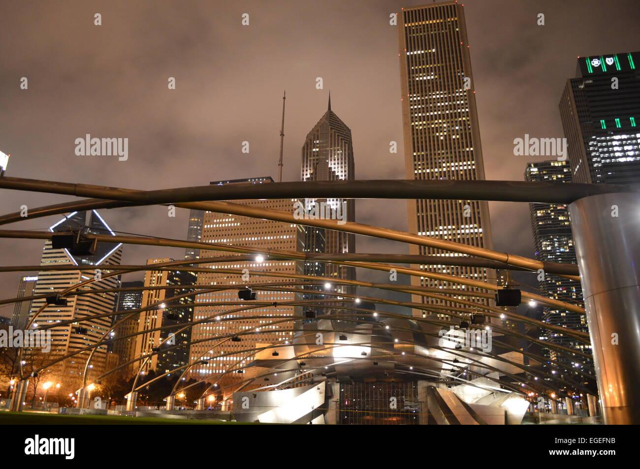 Skyline von Chicago Stockbild