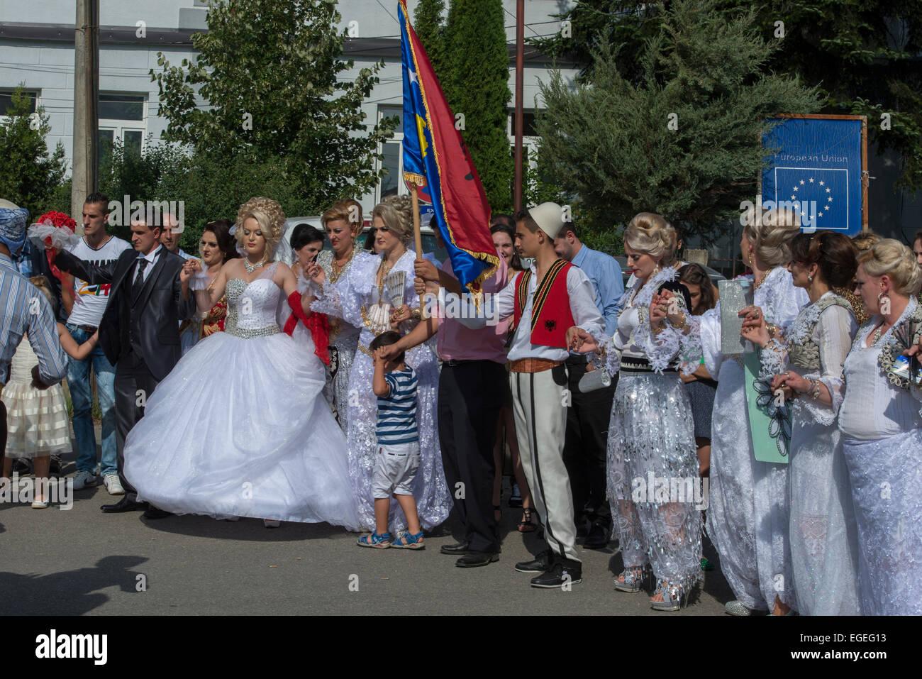 Albanische Hochzeit, Dragash Stockfoto