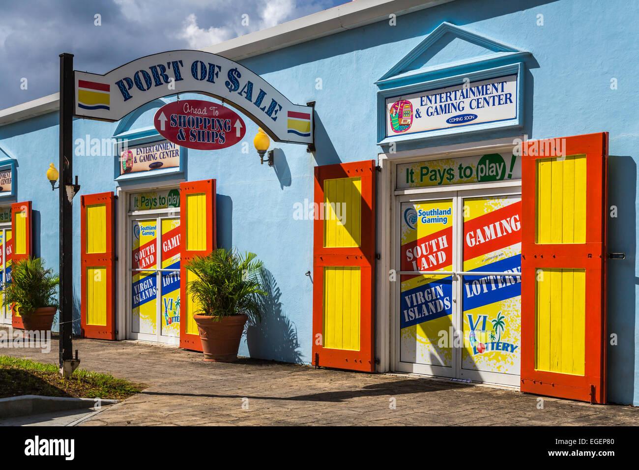Läden Und Geschäfte An Havensight Charlotte Amalie St Thomas Amerikanische Jungferninseln Karibik Stockfotografie Alamy