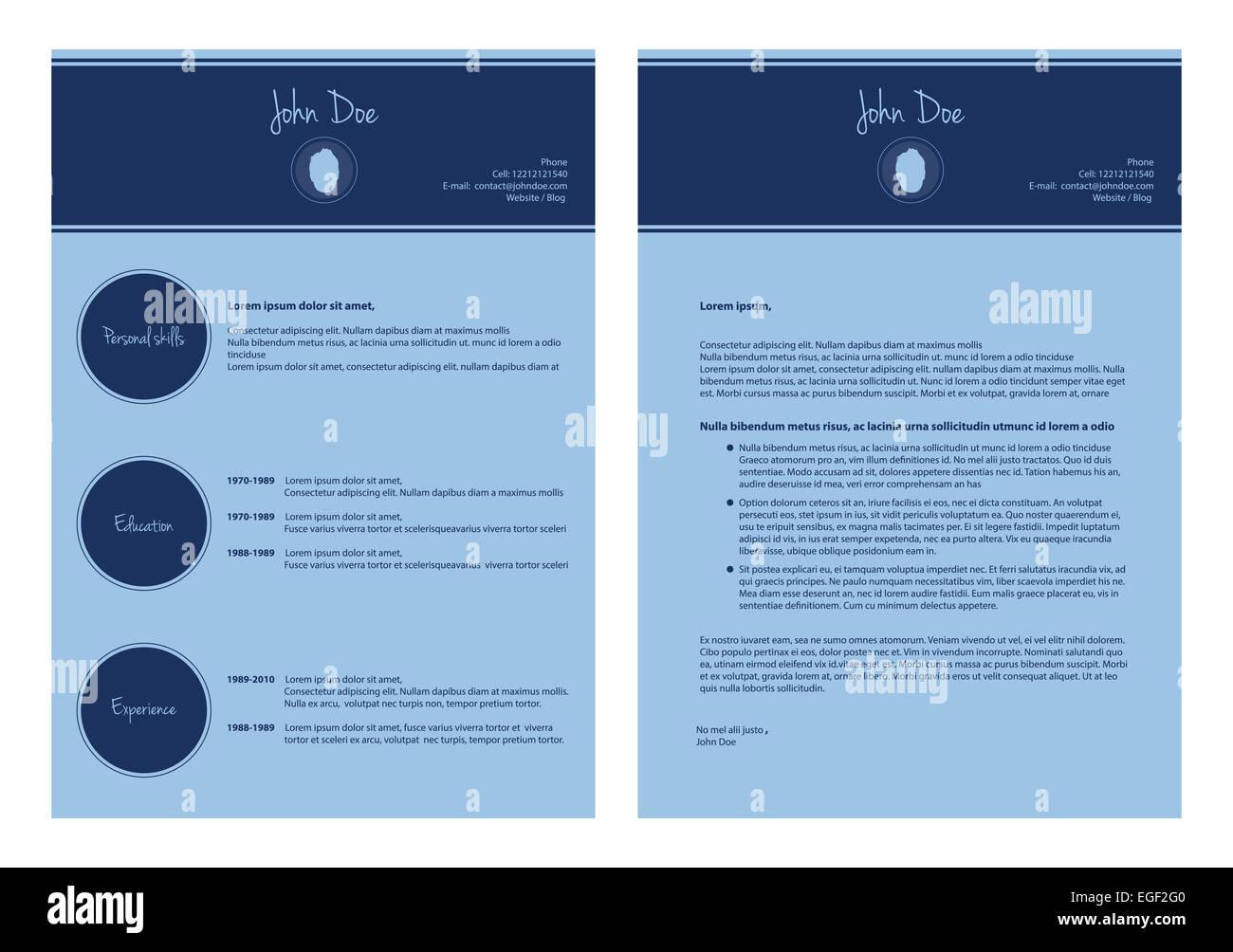 Curriculum Vitae Cv Resume Template Stockfotos & Curriculum Vitae Cv ...
