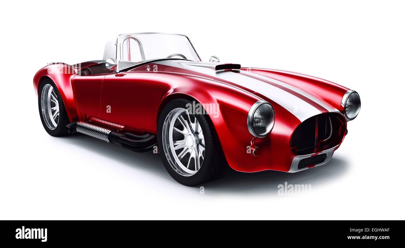 Vintage rot Coupe Auto Stockbild