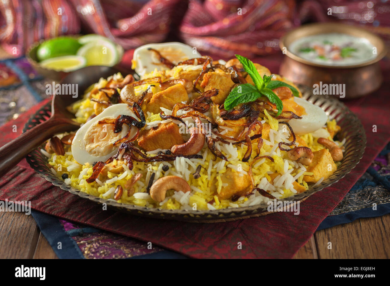 hyderabadi chicken biryani indisches essen stockfoto bild 79077785 alamy. Black Bedroom Furniture Sets. Home Design Ideas