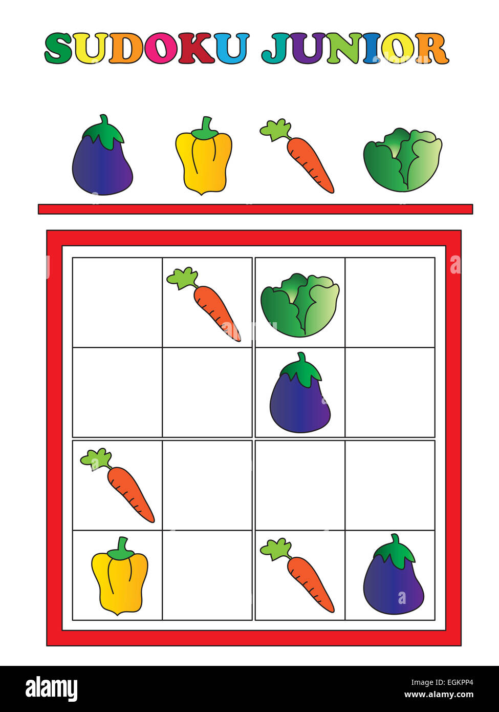 Spiel für Kinder: Sudoku Junior Stockfoto, Bild: 79110924 - Alamy