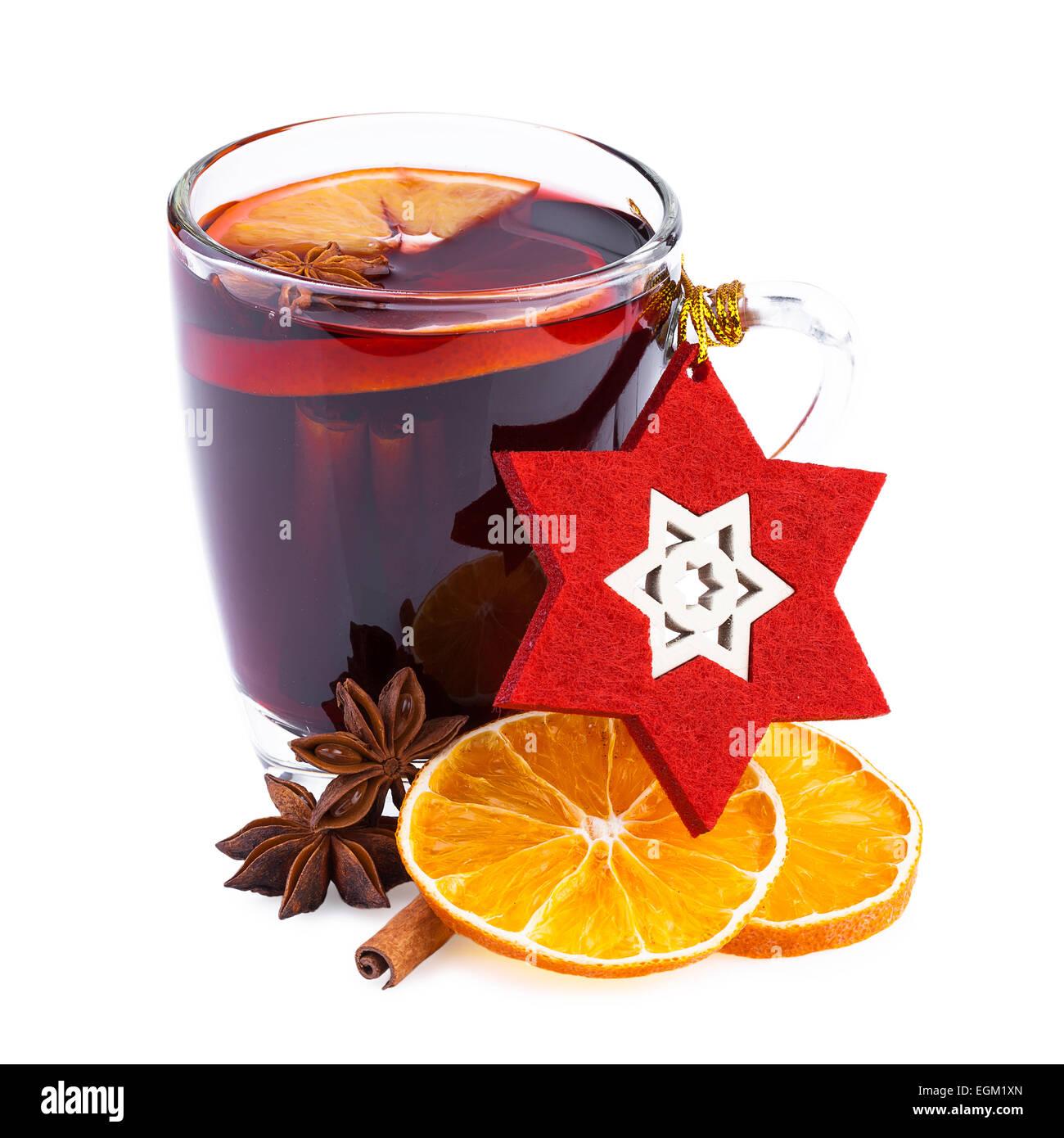 Weihnachten Glühwein Wein Punsch heiß Alkohol Stockfoto