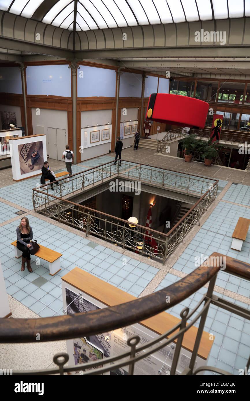 Innere des belgischen Comic-Strip-Center, Brüssel, Belgien Stockbild