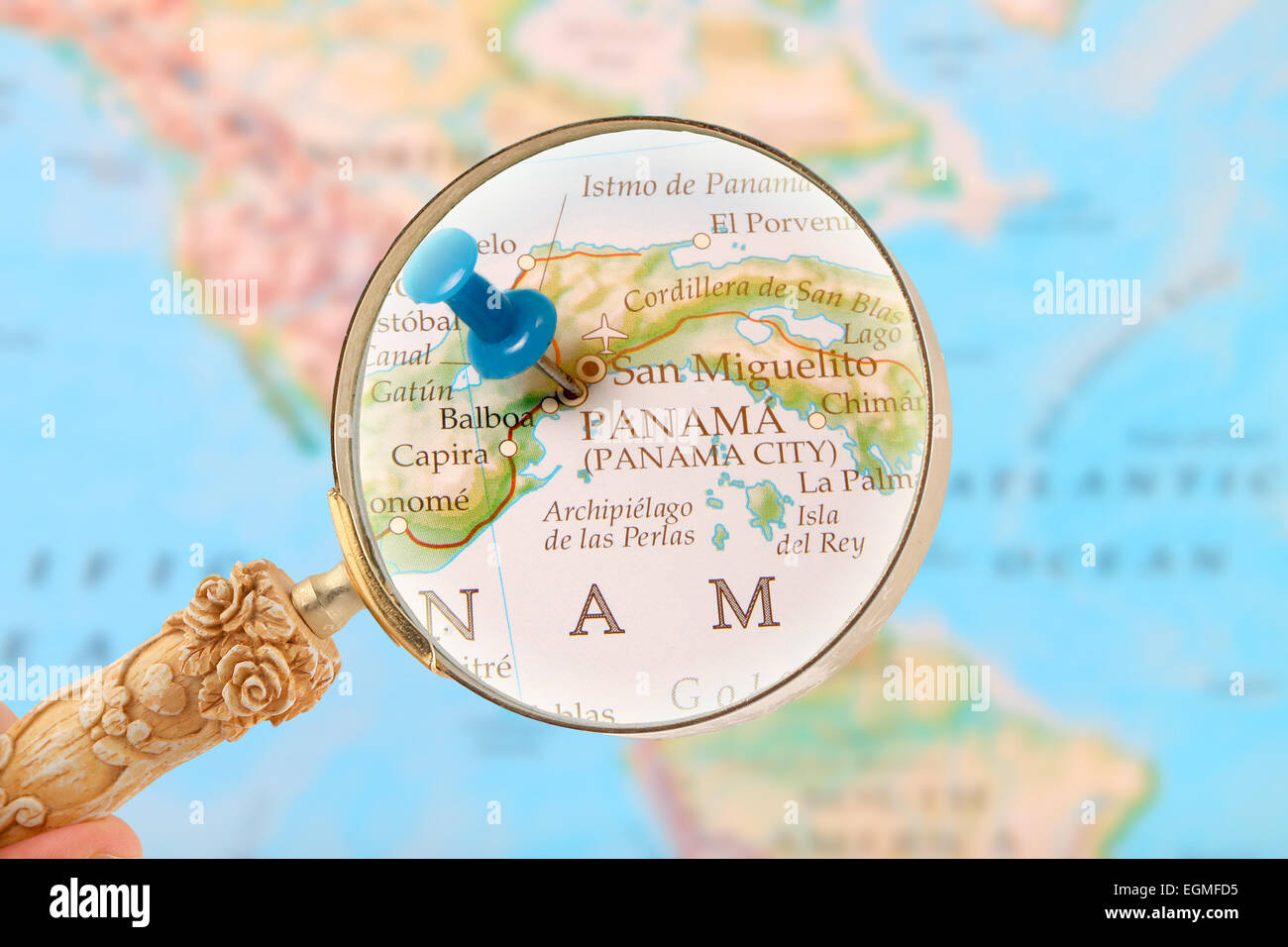 Panama Map Stockfotos & Panama Map Bilder - Alamy
