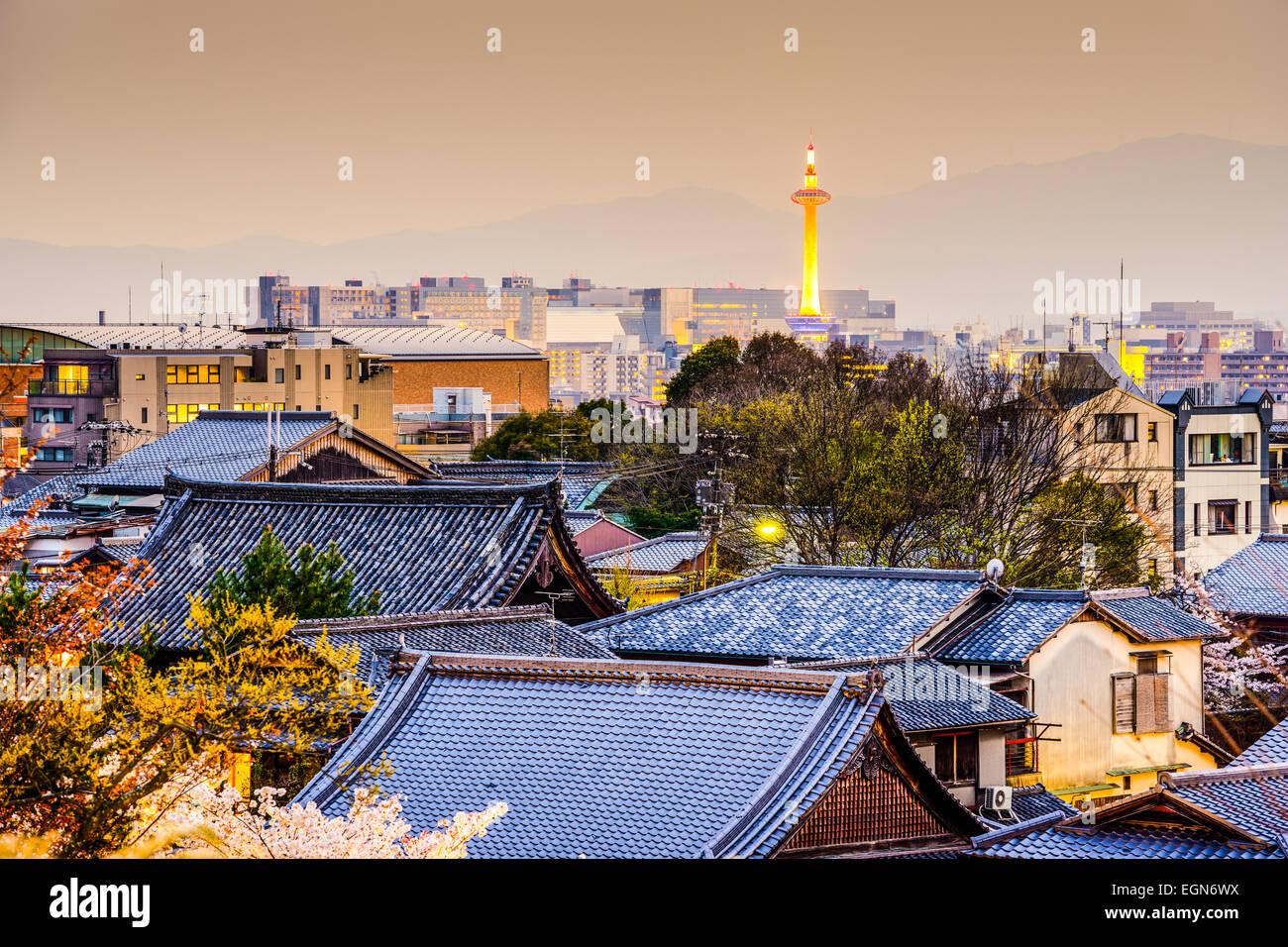 Kyoto, Japan Stadt Skyline. Stockbild