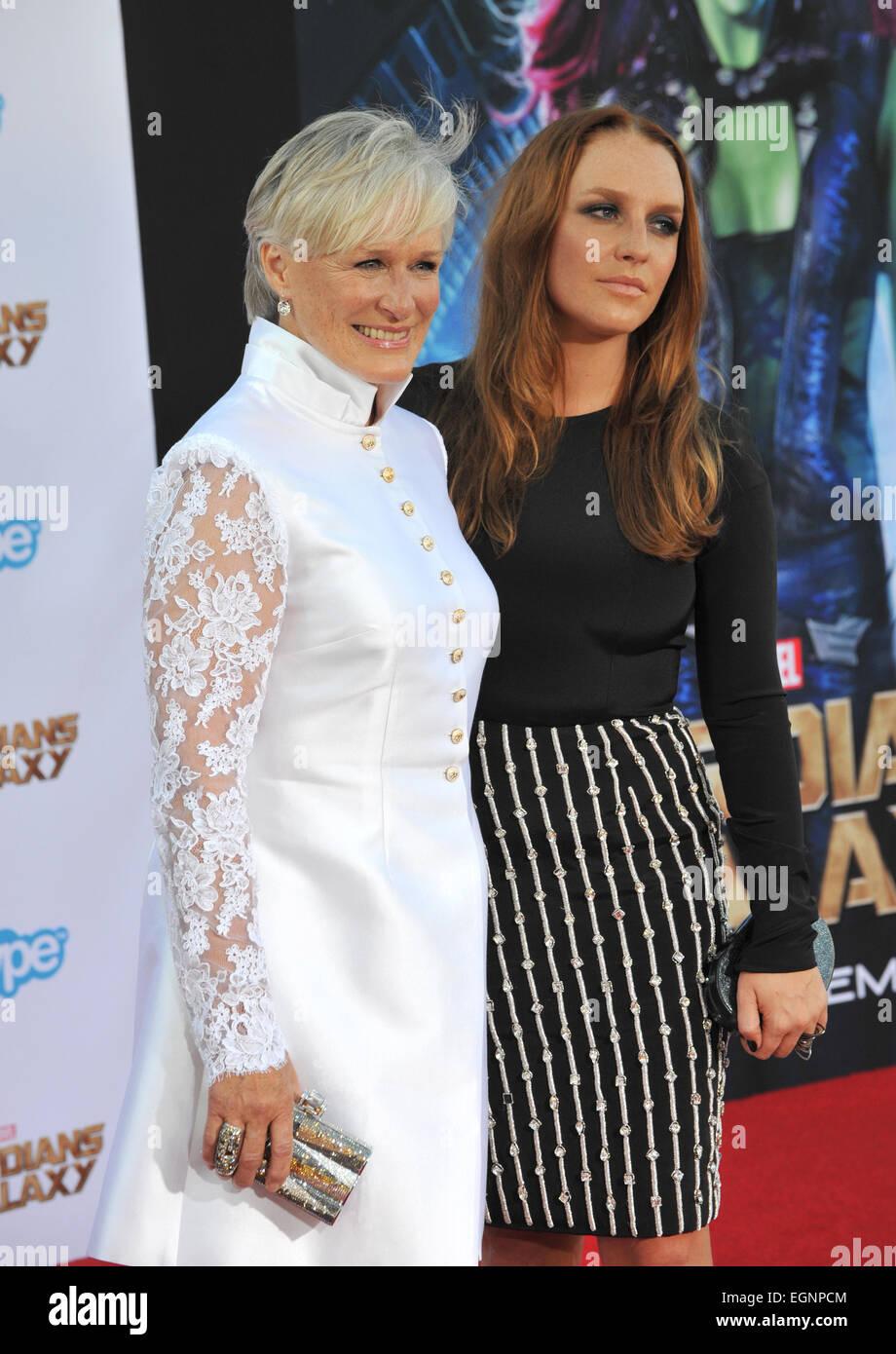 Los Angeles Ca 21 Juli 2014 Glenn Close Tochter Annie Maude