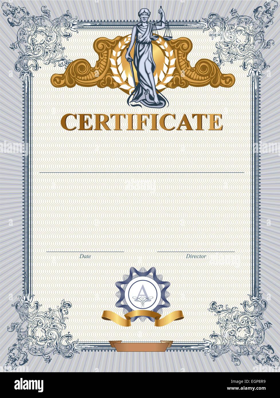 Gold Graduation Diploma Design Stockfotos & Gold Graduation Diploma ...