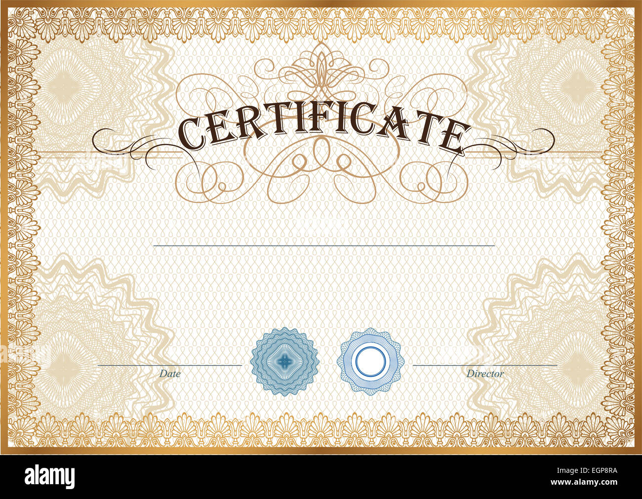Vector Ornate Certificate Template Stockfotos & Vector Ornate ...