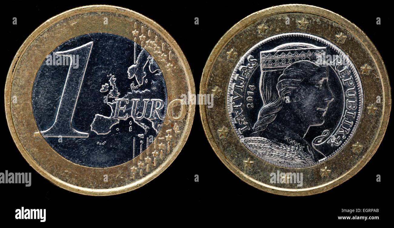 1 Euromünze Lettland 2014 Stockfoto Bild 79198403 Alamy