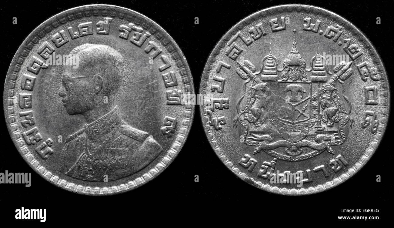 1 Baht Münze Thailand 1962 Stockfoto Bild 79199304 Alamy