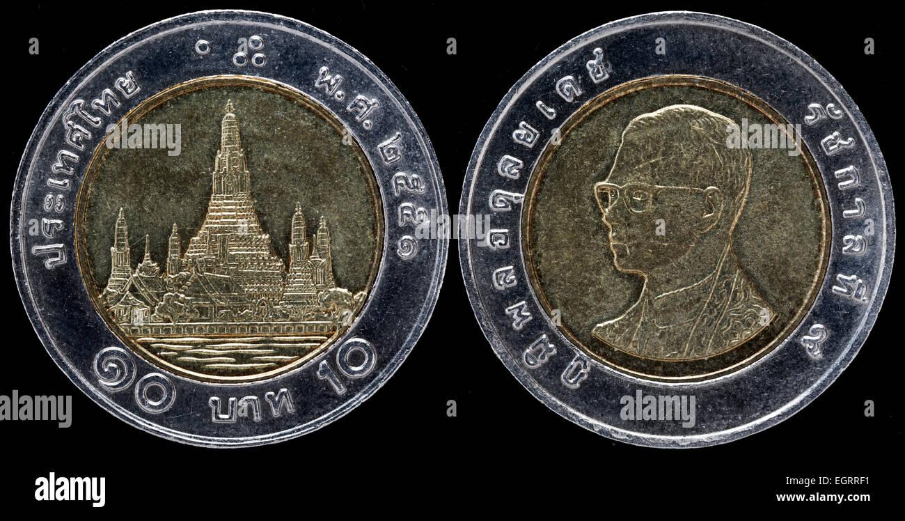 10 Baht Münze Thailand Stockfoto Bild 79199317 Alamy