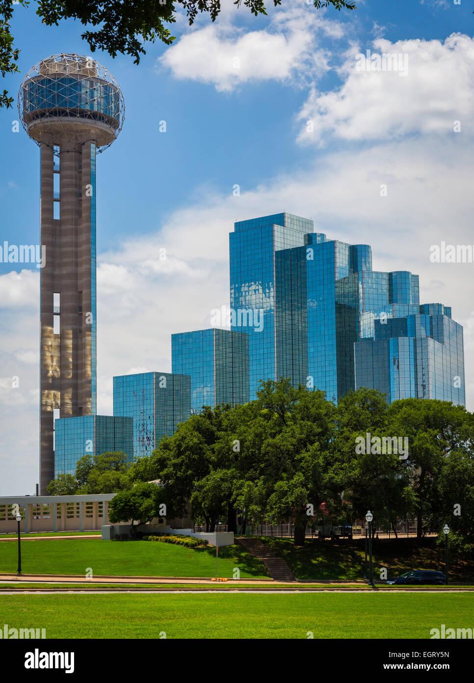 Dallas ist die neunte bevölkerungsreichste Stadt in den Vereinigten Staaten von Amerika und die drittgrößte Stadt Stockfoto