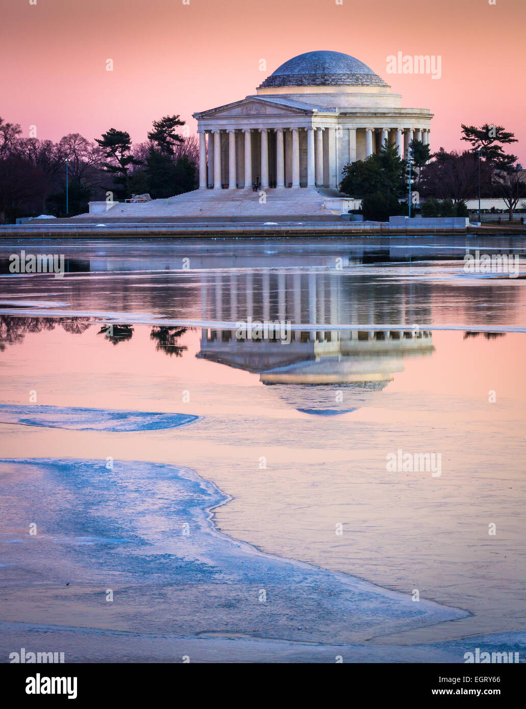 Thomas Jefferson Memorial in Washington, D.C. widmet sich Thomas Jefferson, der dritte Präsident der Vereinigten Stockbild