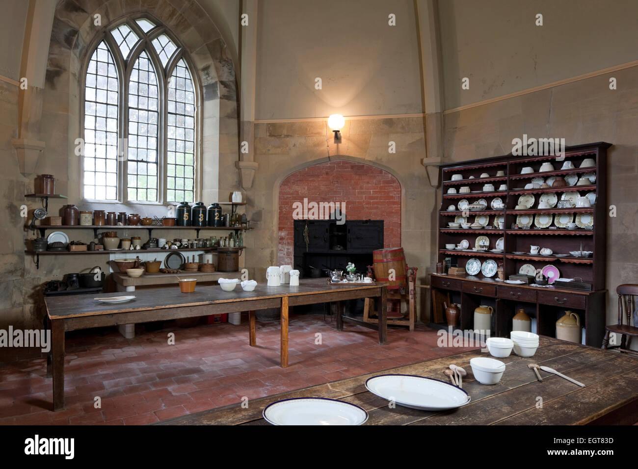 Viktorianische Küche, Newstead Abbey, Nottinghamshire, England, UK ...