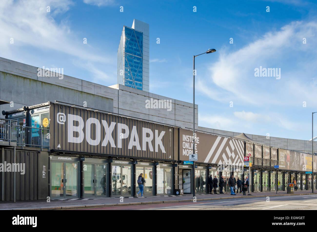 Boxpark, East London, UK Stockbild