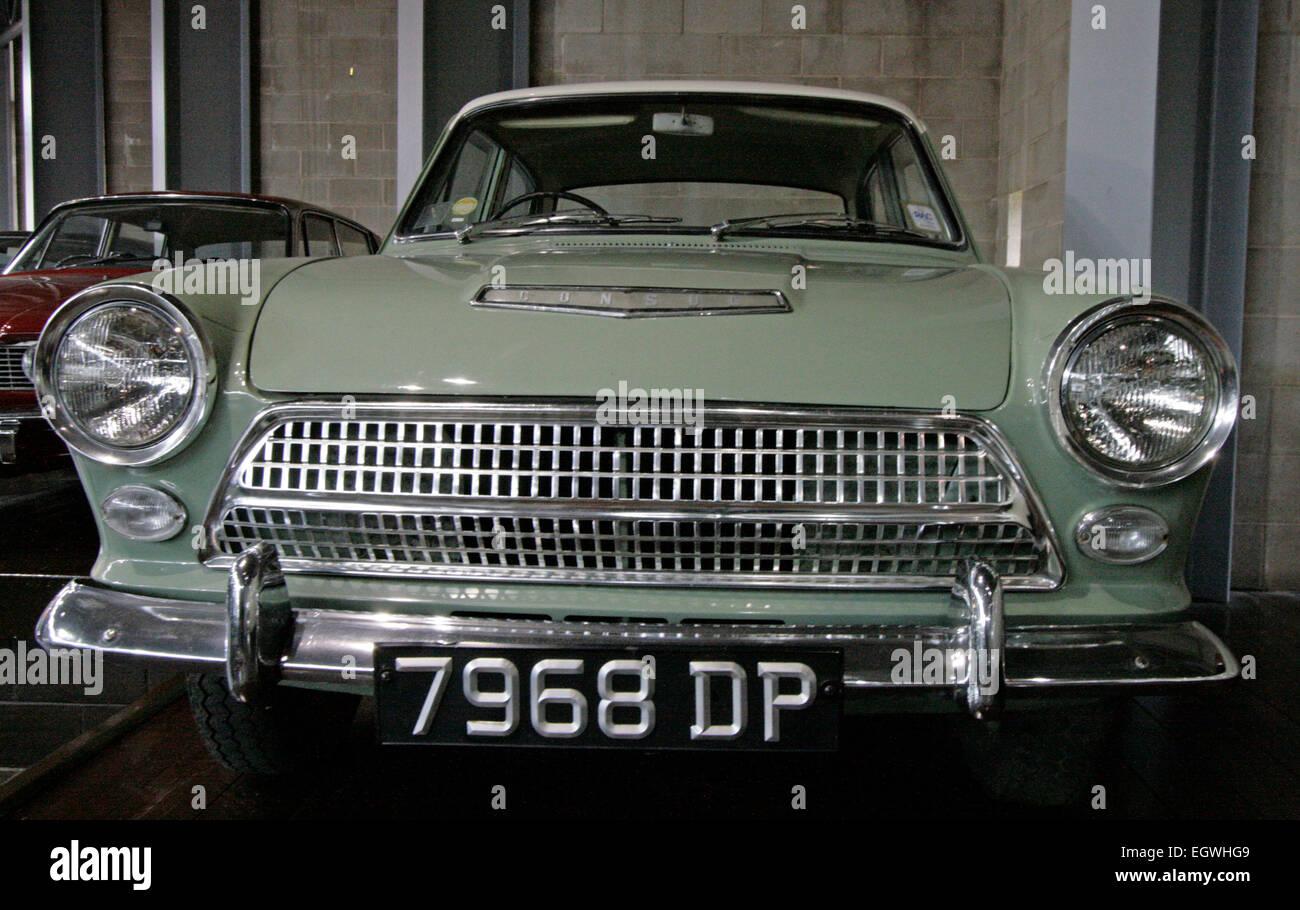 Ein 1963 Ford Consul Cortina Mk1 an das National Motor Museum in Beaulieu, England Stockbild