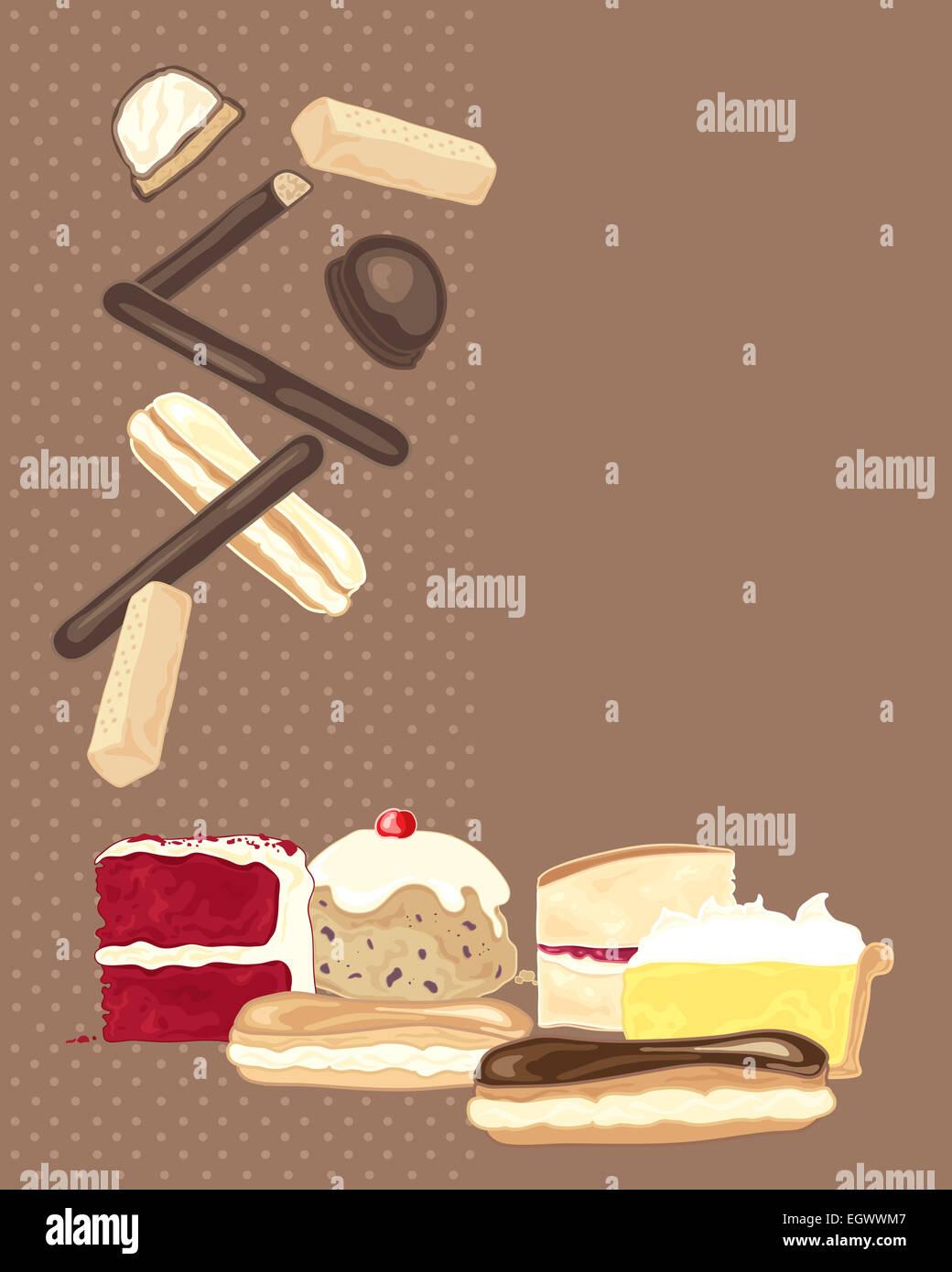 Ein Beispiel Fur Eine Sammlung Von Susses Geback Und Kuchen Auf