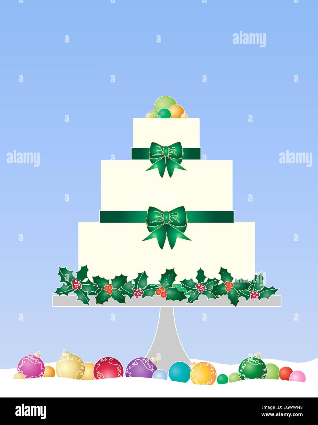 Ein Beispiel Fur Eine Festliche Weihnachten Kuchen Mit Holly Tand