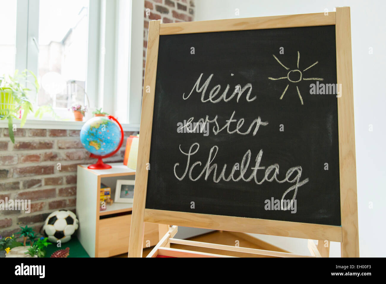 Tafel im Kinderzimmer Stockfoto, Bild: 79291047 - Alamy