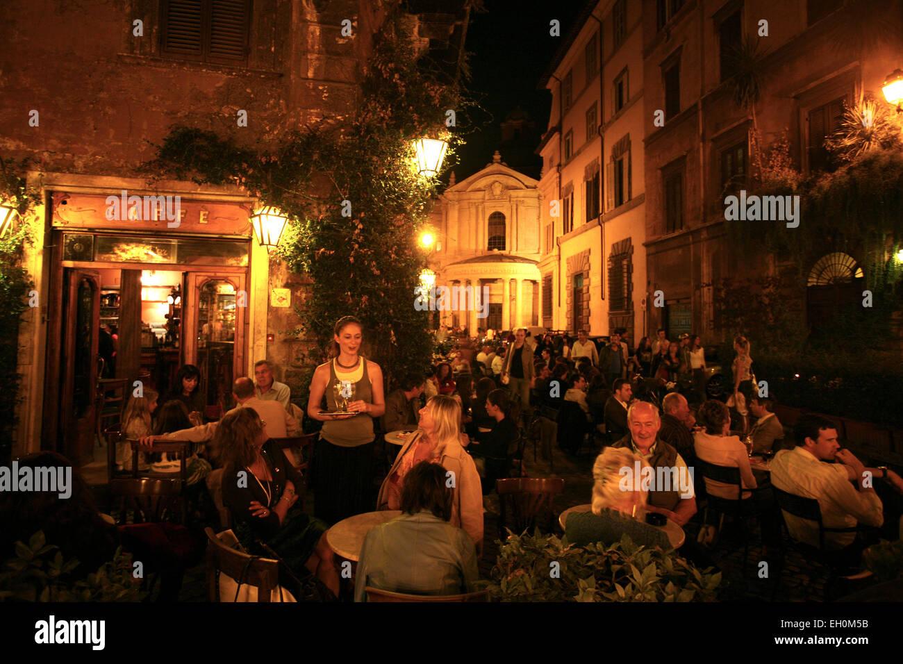 Rom, Cafe della Pace Stockbild