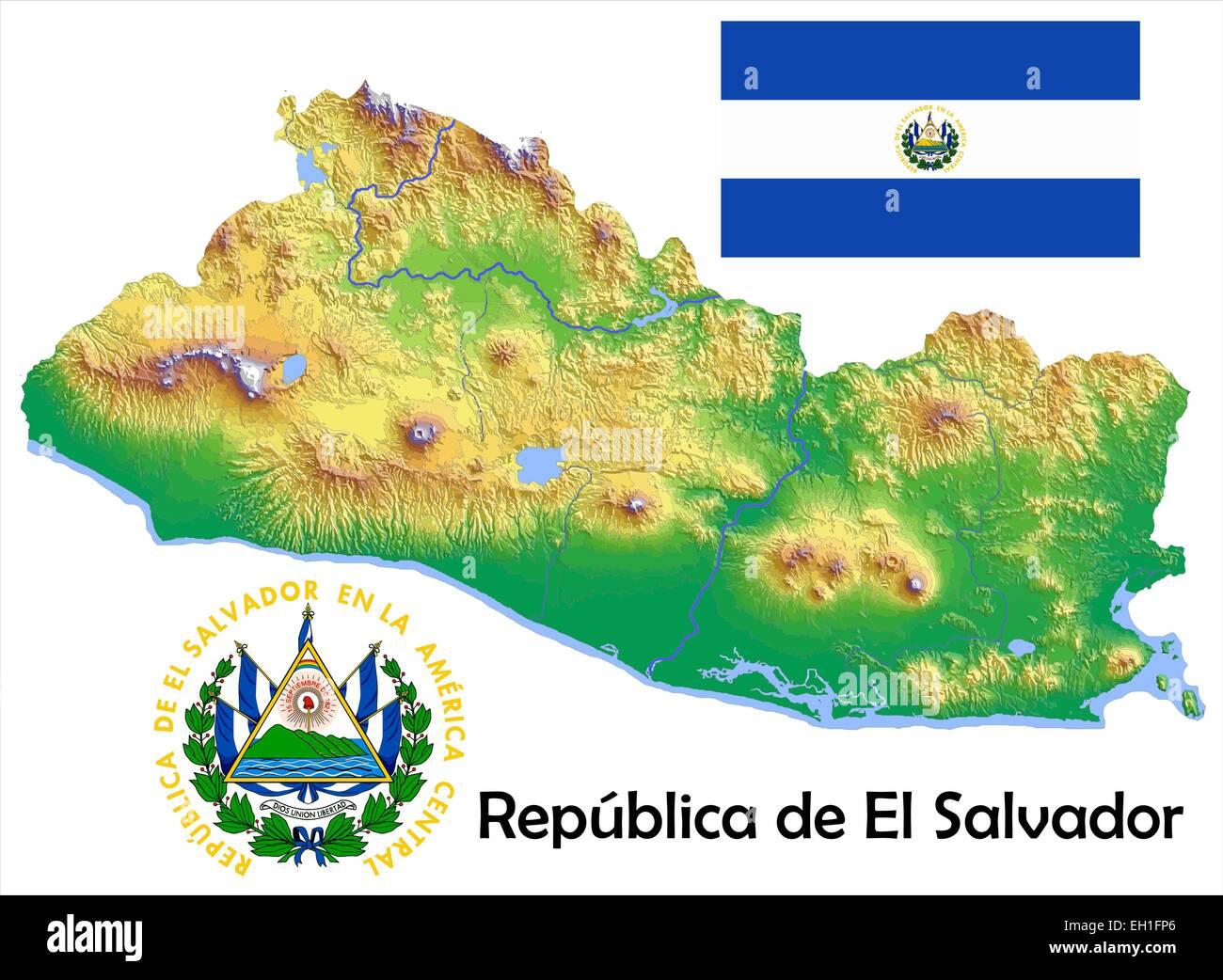 El Salvador Map Stockfotos & El Salvador Map Bilder - Alamy