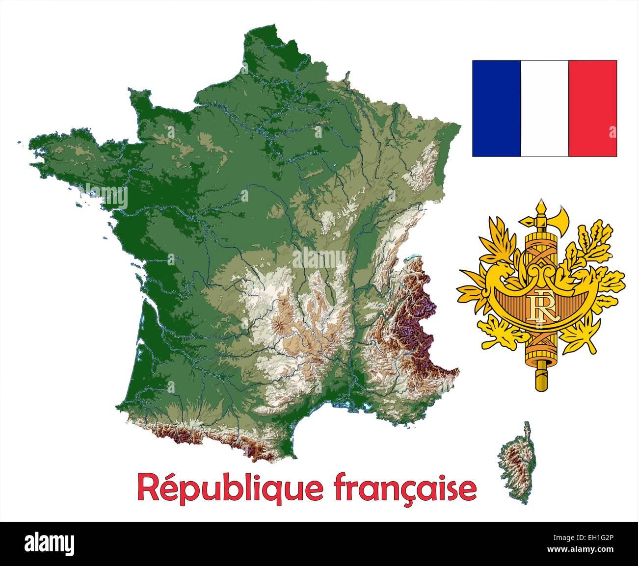 Frankreich Karte Stockfotos & Frankreich Karte Bilder - Alamy