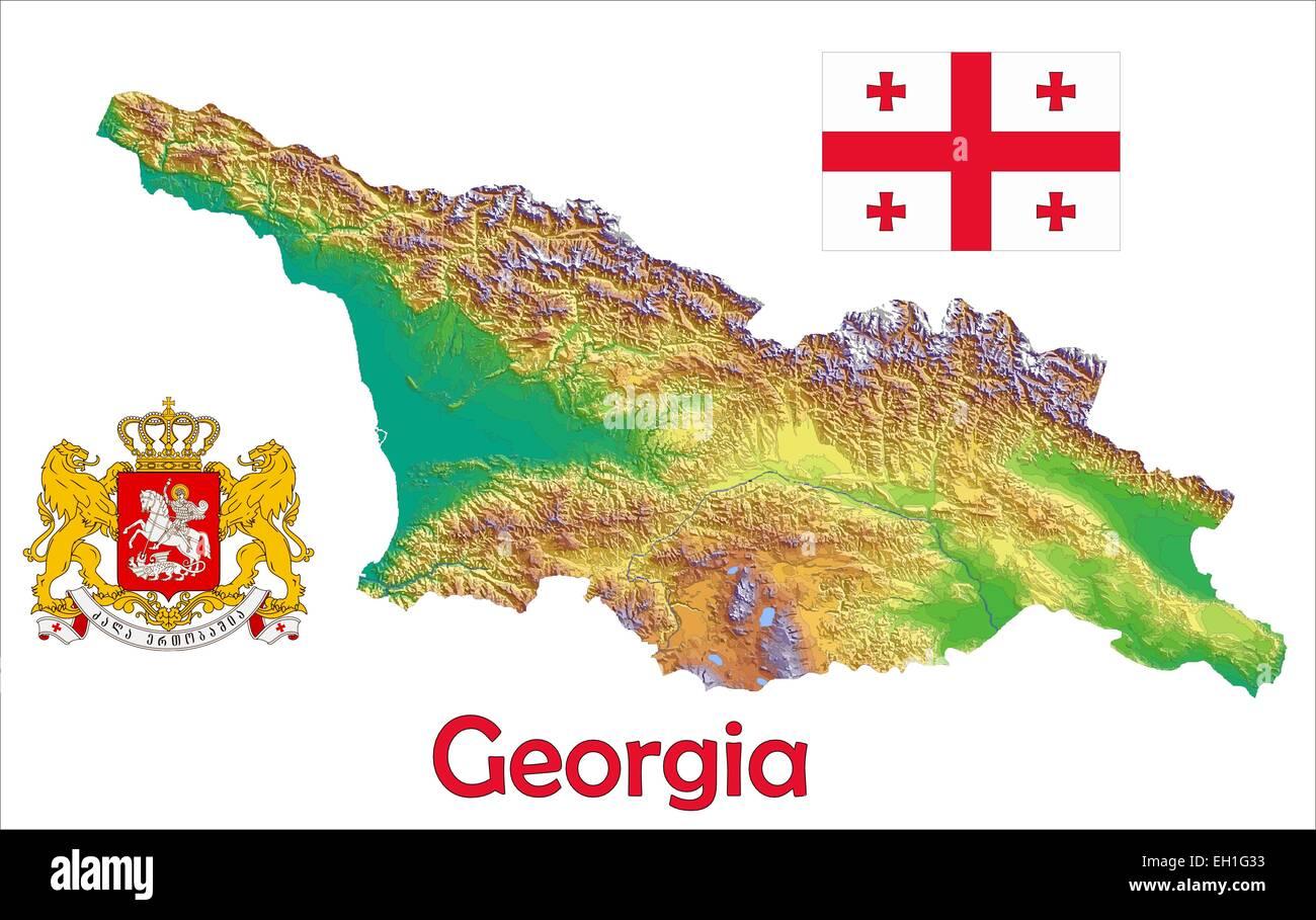 Georgia Map Stockfotos & Georgia Map Bilder - Alamy