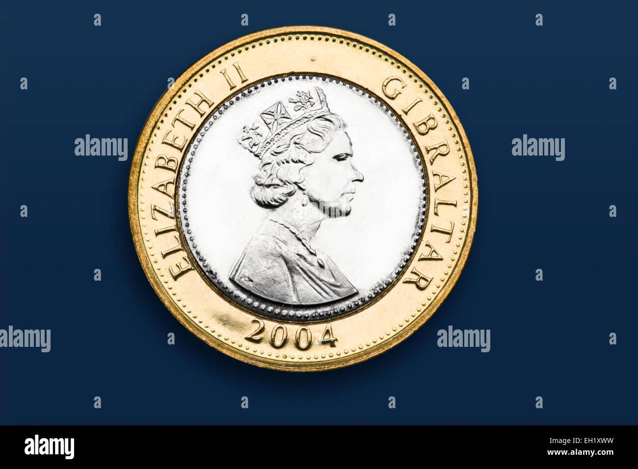 Gibraltar 2 Pfund Münze Stockfoto Bild 79333685 Alamy