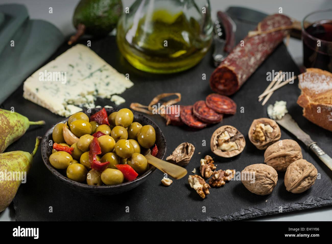Snacks, Tapas-spanische Küche Stockbild