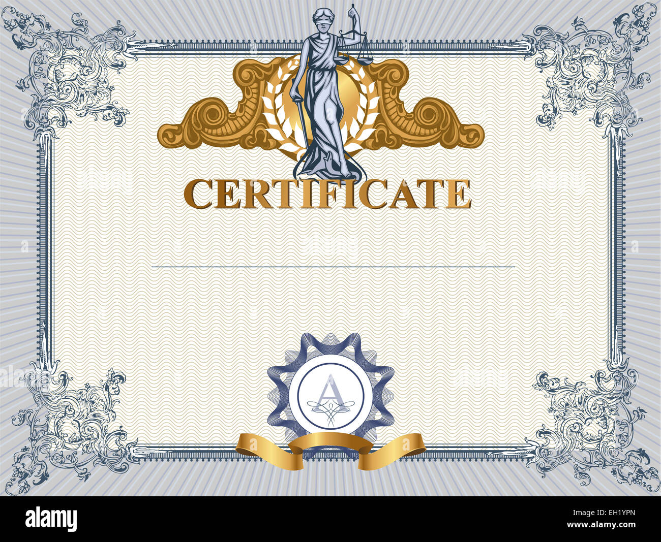Certificate Border Certificate Template Vector Stockfotos ...