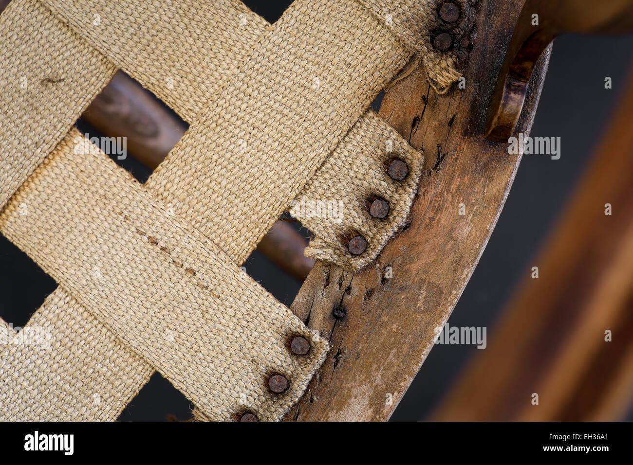 Alte Antike Sessel Mit Inlays Für Holz Reparatur Und Polster