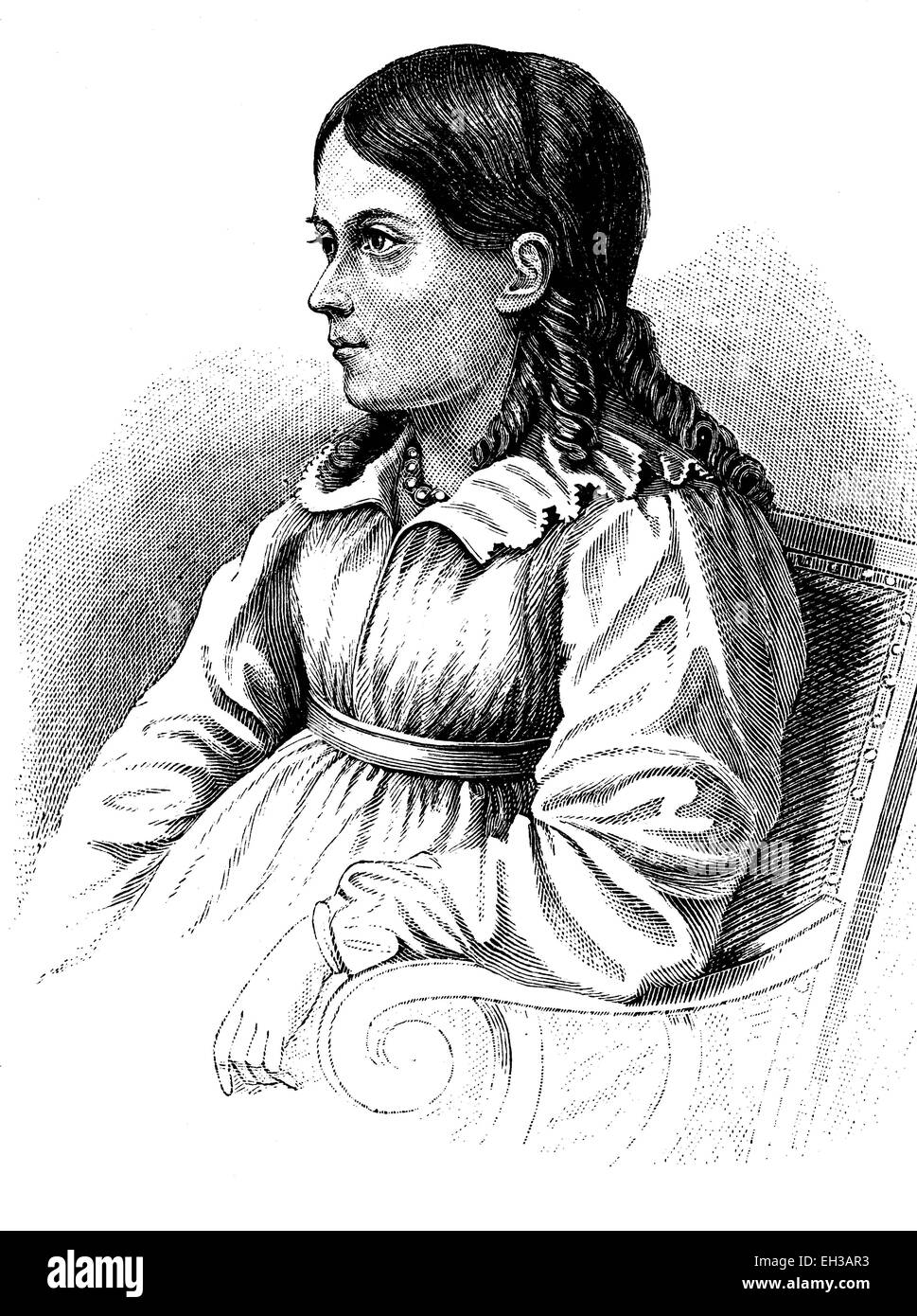 Bettina von Arnim, geboren Elisabeth Catharina Ludovica Magdalena Brentano, auch Bettine 1785-1859, eine deutsche Stockbild