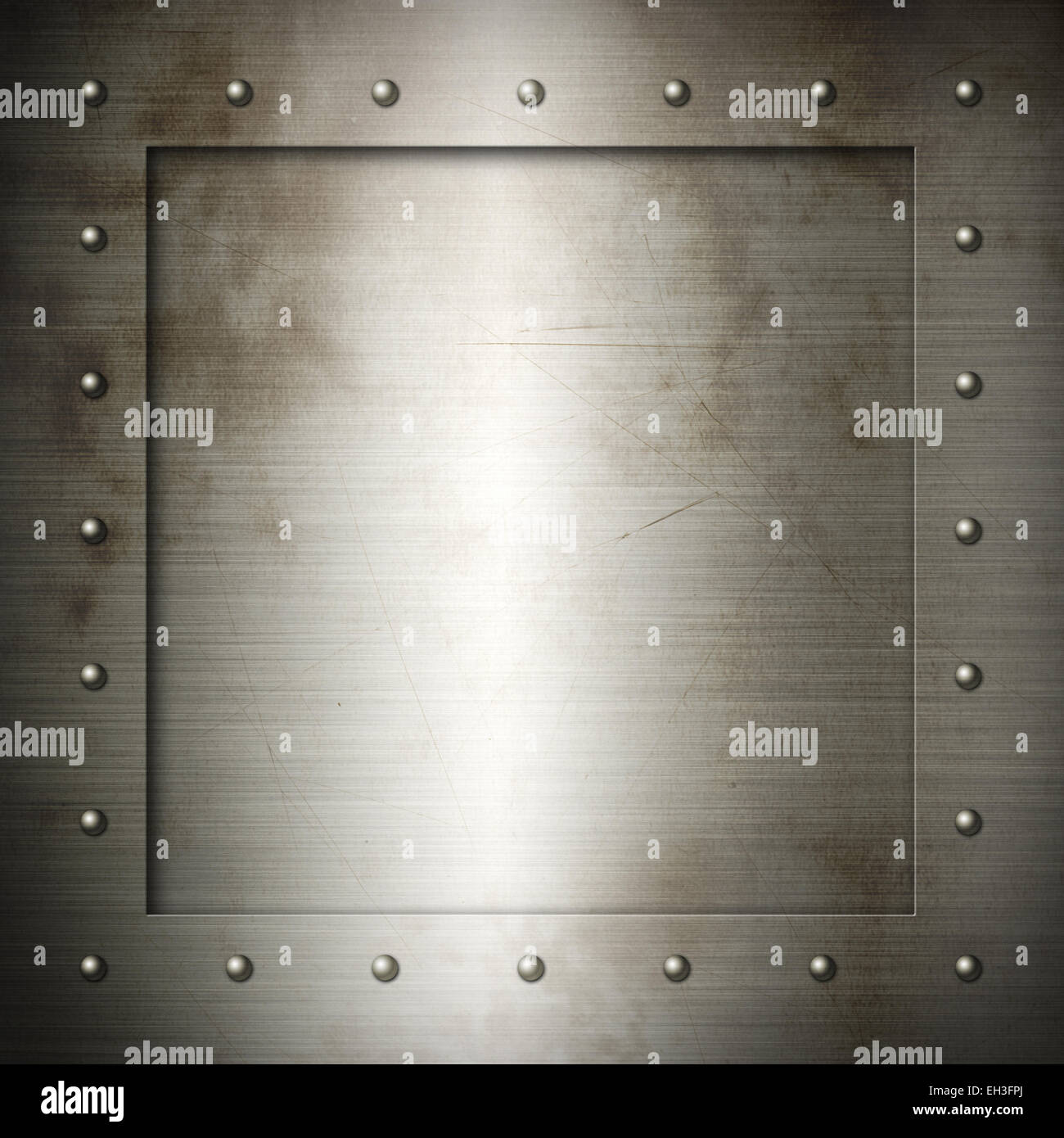 Alte aus gebürstetem Stahl Rahmen Textur Hintergrundbild Stockfoto ...