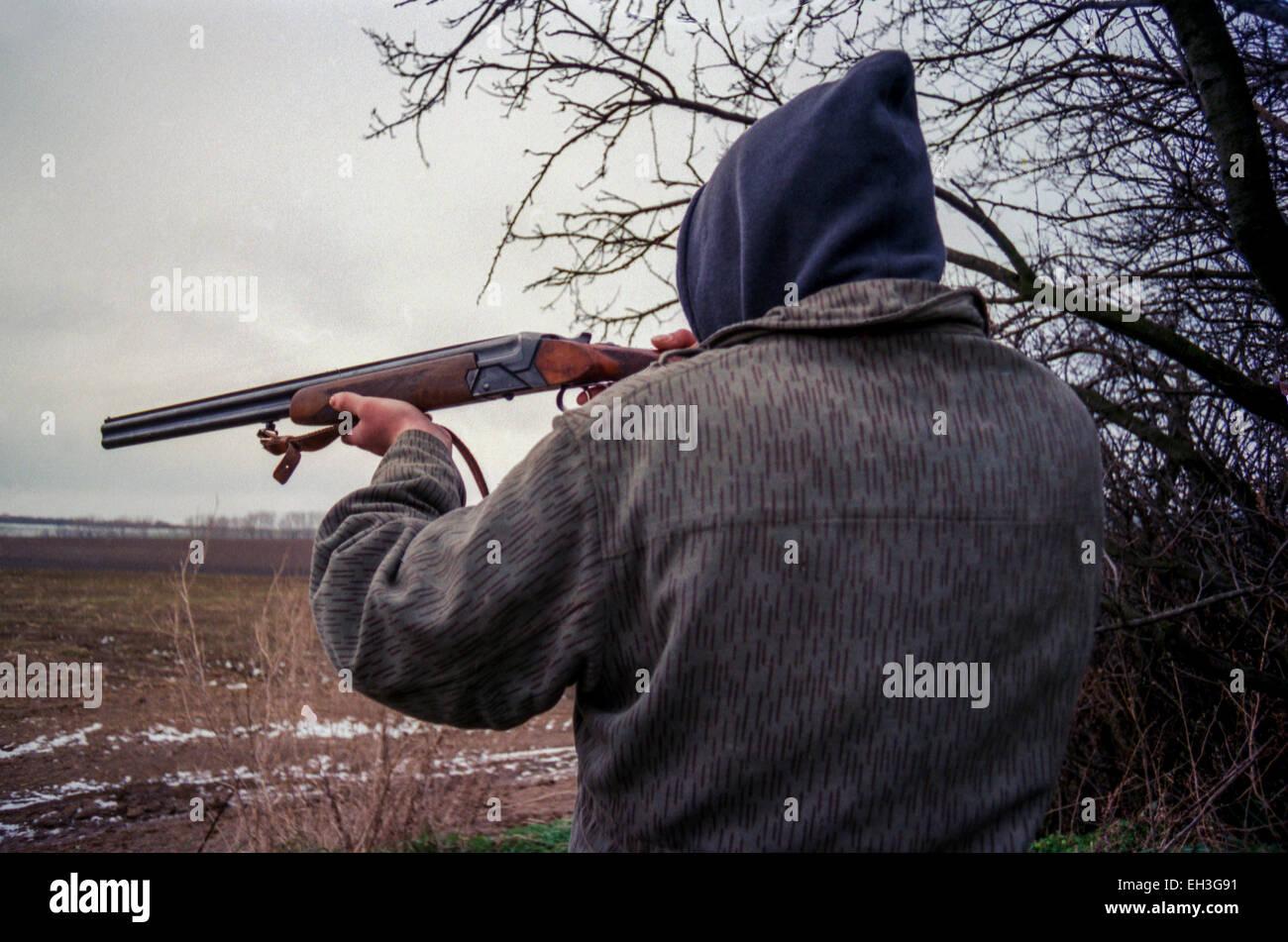Wilderer Jagd Stockbild