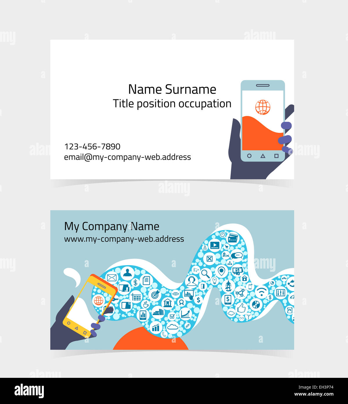 Ausgezeichnet Editierbare Visitenkartenvorlagen Ideen - Beispiel ...