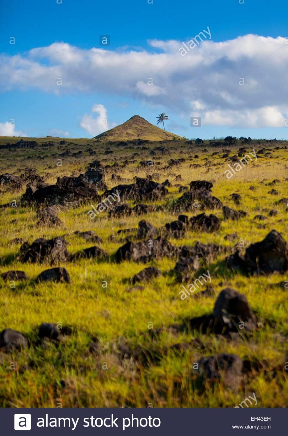 Chile, Osterinsel (Rapa Nui), Seite als Weltkulturerbe von der UNESCO, ist eine polynesische Insel im südöstlichen Stockbild